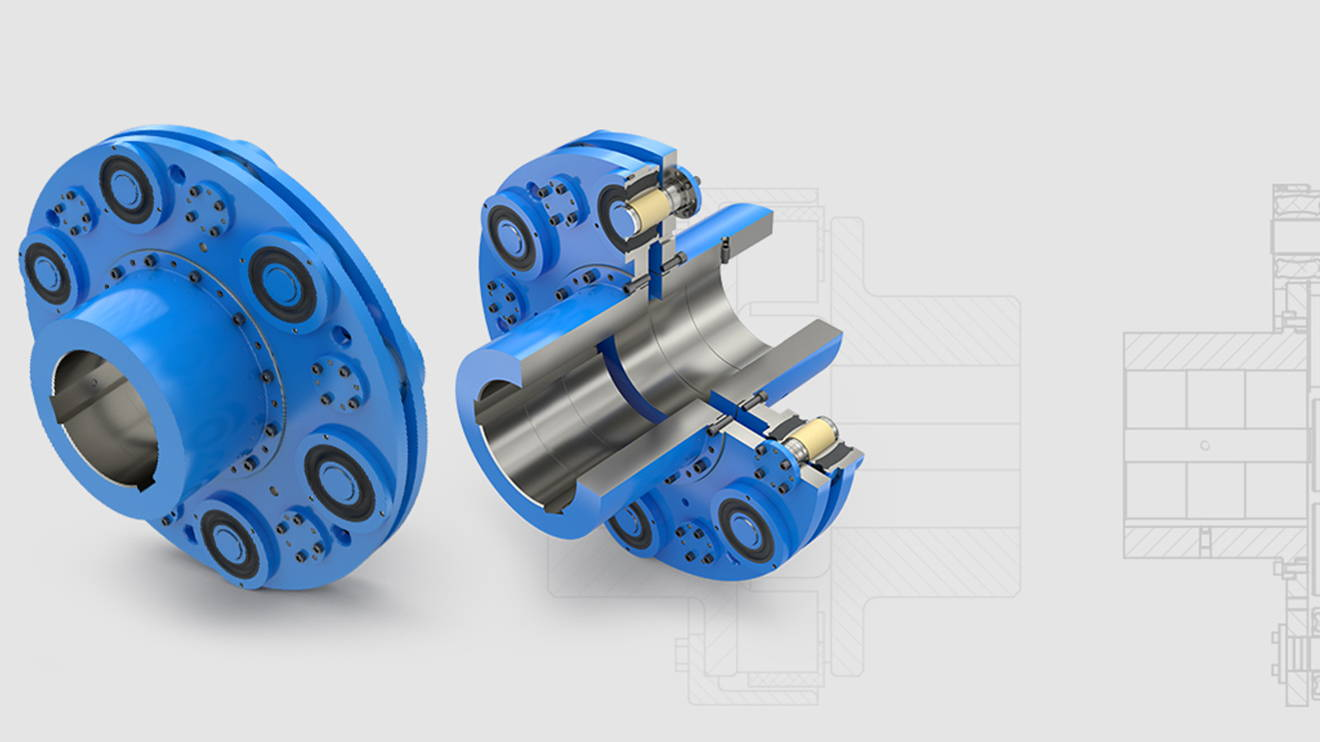 REICH news Elastische Bolzenkupplung ELBO main - Torsionally flexible pin-type coupling: ELBO